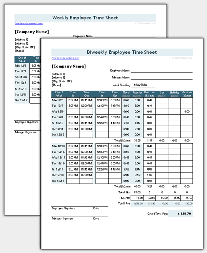 Time sheet template for excel timesheet calculator for Daily timesheet template excel 2010